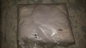 NEW! Pottery Barn TWIN Belgian Flax Linen Box Spring Cover Bed Skirt WHITE