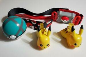 Pokemon Clip N Go Poke Ball Belt Pokeball Nintendo Tomy + McDonald's Pikachu Lot