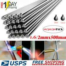 10-50pcs 1.6/2.0x500mm Solution Welding Flux-Cored Rods Aluminum Soldering US
