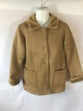Women's Faux Fur/Suede Tan Coat Jacket B.C. CLOTHING Size Medium