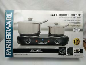 Farberware HP202-D11 Solid Double Burner 1500W Electric Cooktop