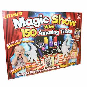 Ultimate Magic Set Show 150 Tricks Kids Boys Magicians Rabbit Card Wand Toy Gift