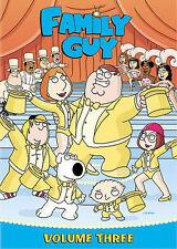 Family Guy - Volume 3 (DVD, 2009, 3-Disc Set, iTunes Sampler)