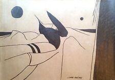 Artigas Gardy dessin au crayon sur papier signé art abstrait Miro céramiste