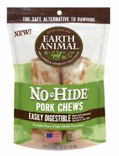 "Earth Animal NO HIDE PORK DOG CHEWS 4""  2 Pak Rawhide Alternative MADE IN USA"