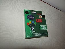 Brilliant Ultra LED Battery Operated String Lights Mulit Colored 15 Lights