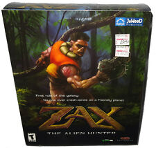 Zax The Alien Hunter Vintage Big Box PC Computer Game Sealed JoWood 2001 RARE!