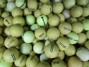 200 gelbe  Rangebälle Golfbälle AAA bis A für Crossgolf und zum üben