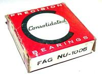 NEW CONSOLIDATED BALL BEARING FAG NU-1005 25MM X 47MM X 12MM (3 AVAILABLE)