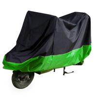 Motorcycle Waterproof Outdoor Motorbike Rain Vent Bike Cover Bag Black Green,XXL