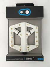 CrankBrothers Stamp 1 MountainBike Pedals - Large - White/Gold - SPECIAL EDITION