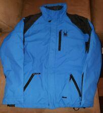 SPYDER Snow Skiing Winter Sports Jacket  Size MED Blue Black Men's