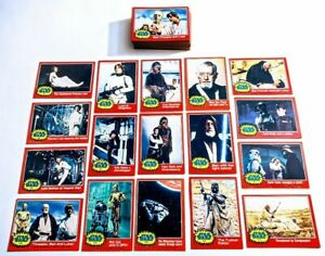 Vintage 1977 Star Wars Series 2 Complete 66 Card Set Red Topps EX/NM Condition