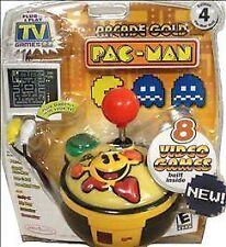 ARCADE GOLD Pac-Man TV Games Plug N Play SEALED JAKKS 8 in 1