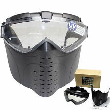 Anti-Fog Ventilated Tactical Airsoft Electric Full Face Mask Gas Mask