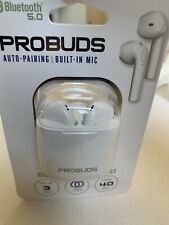 TZUMI ProBuds Bluetooth Auto-pairing Built-in Mic Wireless Stereo Earbuds