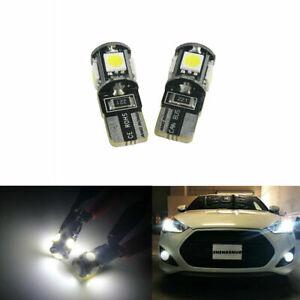 2x T10 501 W5W LED CAR SIDE LIGHT BULBS ERROR FREE CANBUS COB XENON HID WHITE