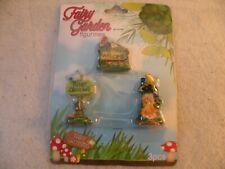 New listing Fairy Garden Mini Figures 3 Piece Set Lawn Signs Nib