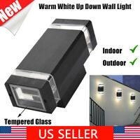 10W GU10 Modern LED Wall Light Up Down Cube Indoor Outdoor Sconce Lighting Lamp