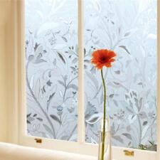 45*100CM UV Proof Static Cling Stained Flower Glass Window Film Sticker Decor