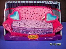 Only Hearts Club Sleeper Sofa Barbie Doll Size Pink & Purple Fold Out  Bed New