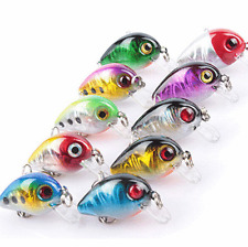 10Pcs Fishing Lures Crankbait Wobble Lot Minnow Fish Bass Tackle 10 Hooks Bait