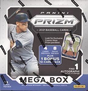 2021 PANINI PRIZM BASEBALL CARDS FACTORY SEALED 8 PACK MEGA BOX MLB