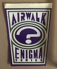 Vintage Airwalk Enigma Sticker shoes skateboarding old school Jason Lee hawk