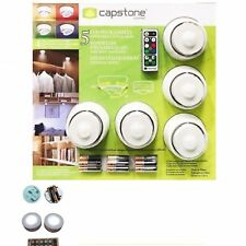 New CAPSTONE 5 LED Puck Lights with Remote Control & Batteries Wireless
