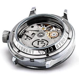 Vostok Glass Bottom 10 Atm For Diver Watch Floor Stainless Steel No. Bezel