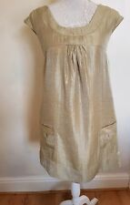 BNWT Oasis  Gold Shimmer Tunic Style Party Dress SIZE 10 RRP £60