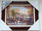Thomas Kinkade The Pumpkin Festival framed canvas 17 x 21 Burl Frame