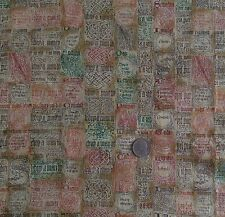 "Hoffman International Cotton Fabric CANTERBURY MANOR Screen Print 45""W x 3 Yards"