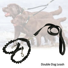 New Duplex Double Dog Coupler Twin Lead 2 Way Two Pet Dogs Walking Leash Safety