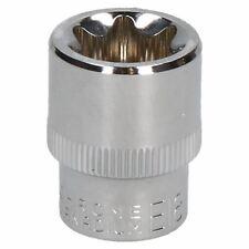 "E18 Female Torx Socket Star Bit 3/8"" Drive Standard External Chrome Vanadium"