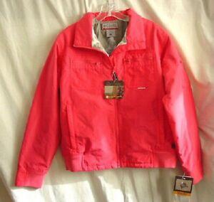 COLUMBIA CONVERT MTN TRANSIT Pink Ski Jacket Womens Size LARGE NEW NWT