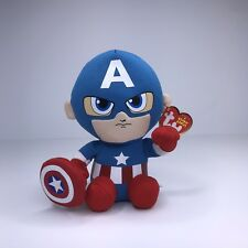 a31fa316a3e ~NWT~ TY Beanie Baby - CAPTAIN AMERICA (Marvel) - Plush Stuffed Toy