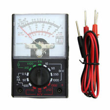 Electric DC/AC Voltmeter Ammeter Ohm Meter Analog Multimeter Tool with Test Pens