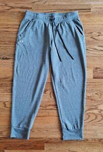 Under Armour Heatgear Athletic Training Running Jogging Pants Men's Size L Gray