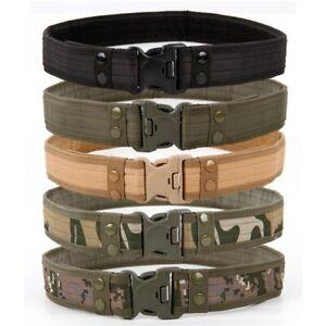 Combat Belts Quick Release Tactical Men Canvas Waistband Camouflage Waist Strap