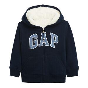 Kids Boys Gap Logo Sherpa-Lined Hoodie, Blue Galaxy  (Choose Size S, M, L)