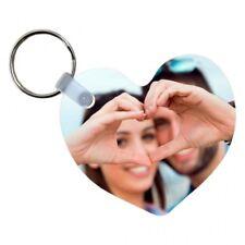Portachiavi a forma di cuore personalizzabile con foto a stampa sublimatica - in