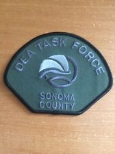 PATCH POLICE SHERIFF SONOMA COUNTY - NARCOTICS DRUG DEA TASK FORCE - CALIFORNIA
