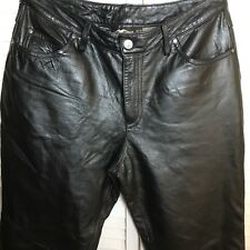 HARLEY DAVIDSON WOMEN'S LEATHER PANTS 10 NWOT! LINED! CLASSIC STYLE W/5 POCKETS!