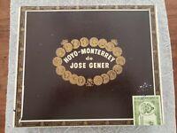 Hoyo De Monterrey de Jose Gener wooden cigar box Empty No 55 English Market