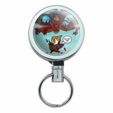 Trump Trade War with China Red Dragon Retractable Belt Clip Badge Key Holder
