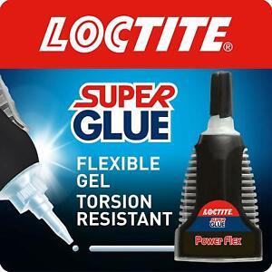 2xLoctite Super Glue Power Flex Control Flexible Super Glue Gel Adhesive Seals