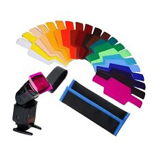 20 Color Photographic Gels Filter for Canon/Nikon/Oloong/Yongnuo FLash/Speedlite