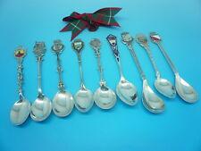 Plata cucharas de souvenir, en su mayoría continental, 9 cucharas en total, Joblot
