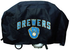 """Milwaukee Brewers Vinyl Grill Cover [NEW] MLB 68"""" Wide Grilling Barbeque CDG"""